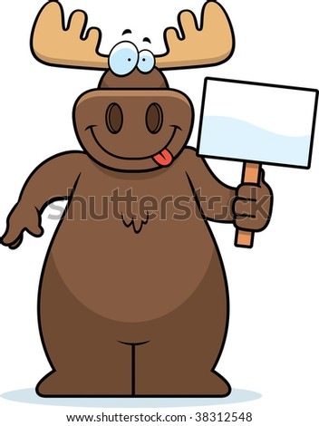 Moose Sign - stock photo