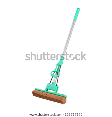 Mop for cleaning floors. Isolated on white background