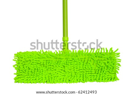 mop for cleaning the floor. Isolated on white.