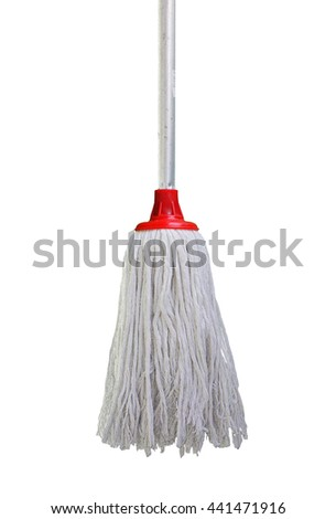 mop isolated with white background