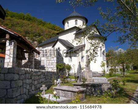 Moraca, Serbian Orthodox monastery located in the valley of the Moraca River in Kolasin, central Montenegro