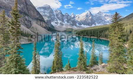 Moraine Lake, Banff National Park, Alberta, Canada - stock photo
