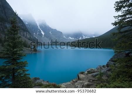 Moraine Lake, Banff National Park (Alberta, Canada) - stock photo