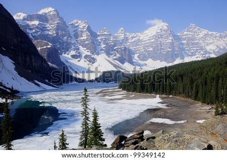 Moraine lake. Banff National park. Canada.  - stock photo
