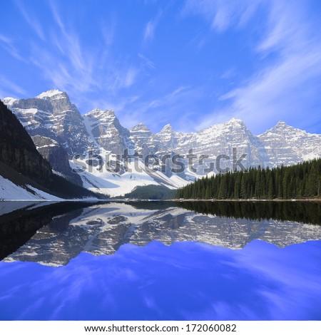 Moraine lake. Banff National park. Canadian Rockies. - stock photo
