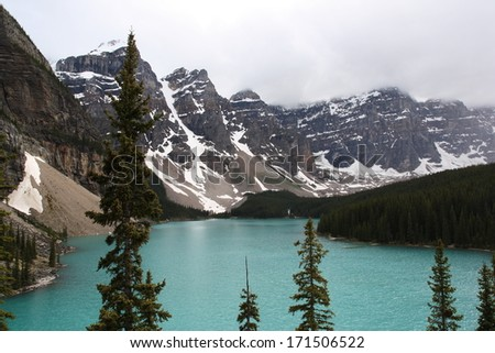 Moraine Lake Banff Park Canada - stock photo