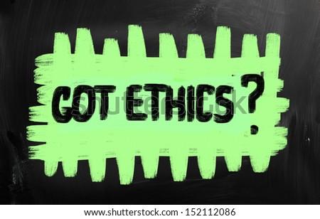 Moral principles - stock photo