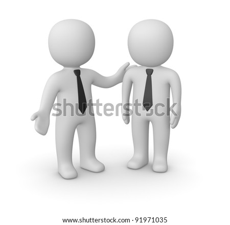 Moral support - stock photo