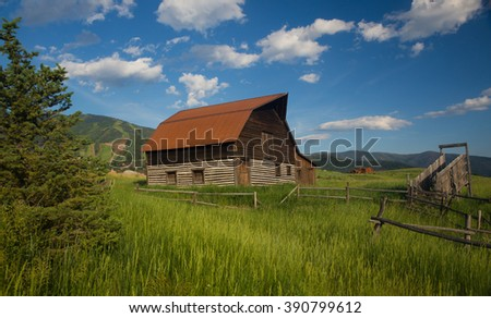 More Barn - Steamboat Springs - stock photo