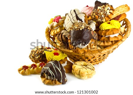 More fresh, delicious, sweet thin captain on a white background in a basket