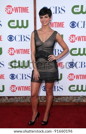 Morena Baccarin at the CBS, The CW And Showtime TCA Party, The Pagoda, Beverly Hills, CA 08-03-11 - stock photo