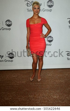 Morena Baccarin at the Disney ABC Television Group Summer 2010 Press Tour - Evening, Beverly Hilton Hotel, Beverly Hills, CA. 08-01-10 - stock photo
