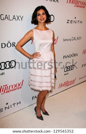 Morena Baccarin at the Hollywood Reporter Celebration for the 85th Academy Awards Nominees, Spago, Beverly Hills, CA 02-04-13 - stock photo