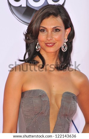 Morena Baccarin at the 64th Primetime Emmy Awards at the Nokia Theatre LA Live. September 23, 2012  Los Angeles, CA Picture: Paul Smith