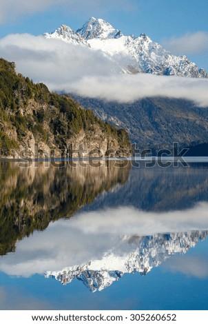 Moreno Lake and Mt. Capilla. Patagonia, Argentina - stock photo