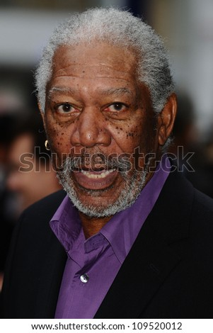 """Morgan Freeman arriving for European premiere of """"The Dark Knight Rises"""" at the Odeon Leicester Square, London. 18/07/2012 Picture by: Steve Vas / Featureflash - stock photo"""