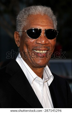 Morgan Freeman at the Los Angeles premiere of 'The Bucket List' held at the ArcLight Cinemas in Hollywood on December 16, 2007. - stock photo