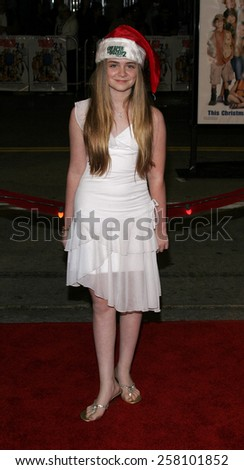 "Morgan York  attends The 20th Century Fox World Premiere of ""Cheaper By The Dozen 2"" held at The Mann Village Theatres in Westwood, California on December 13, 2005.   - stock photo"