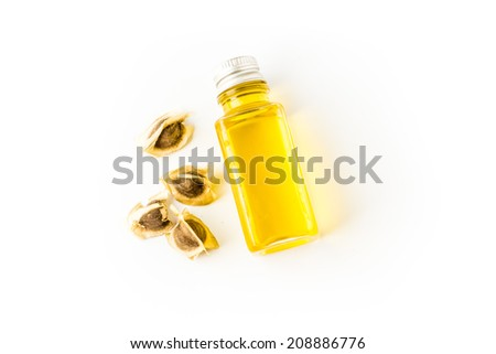 moringa seed oil - stock photo