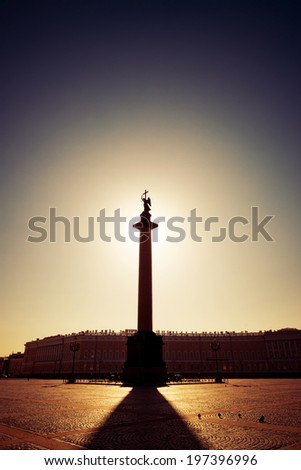 Morning at Palace Square, Saint-Petersburg, Russia