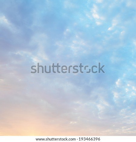 Morning clouds at sunrise - stock photo
