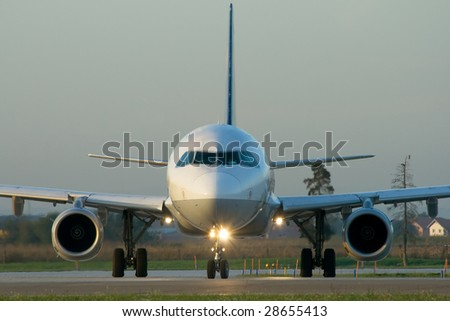 Morning departure - frontview - stock photo