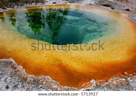 Morning Glory pool, Yellowstone National Park - stock photo