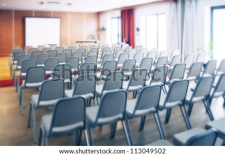 morning in conference room - stock photo