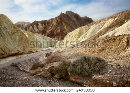 Morning In Golden Canyon, Death Valley National Park, California - stock photo