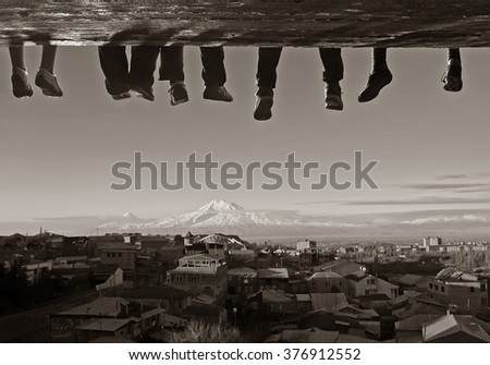 morning in the city - stock photo
