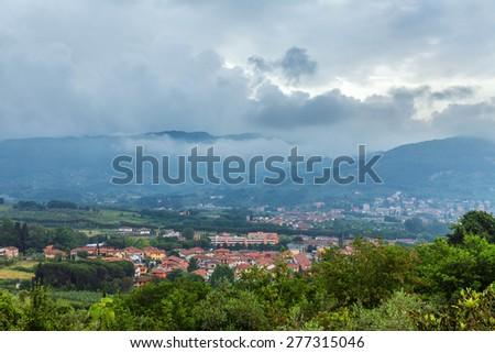 Morning in Tuscany - stock photo