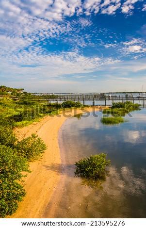 Morning light at Salt Run, in St. Augustine, Florida. - stock photo