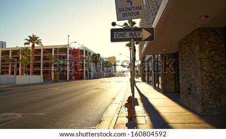 Morning light Las Vegas - stock photo