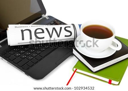 Morning news - stock photo