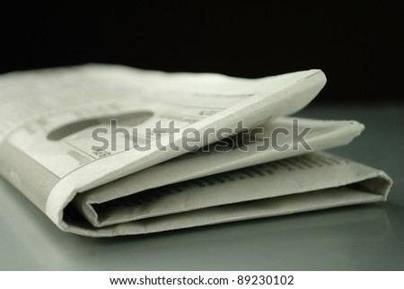 morning newspaper on the table - stock photo