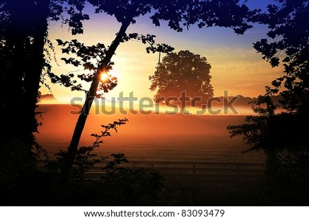 Morning Sunrise - stock photo