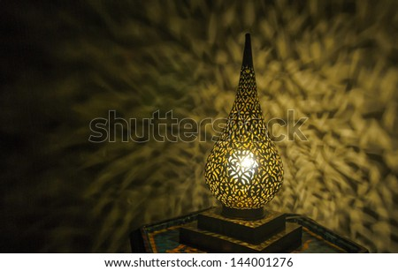Moroccan antique lamp - stock photo
