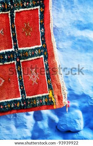 Moroccan carpet - stock photo