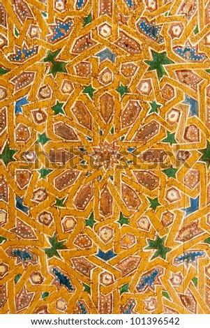 Moroccan door pattern - stock photo