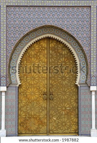 Moroccan entrance (3), door way, entry, exit, pattern