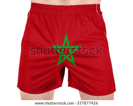 Moroccan flag - stock photo