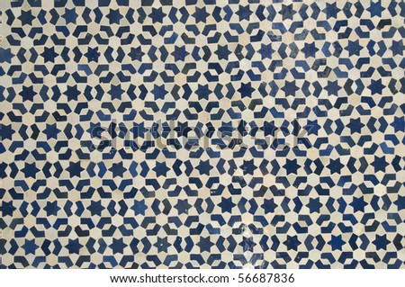 Moroccan style mosaic - Best of Morocco - stock photo