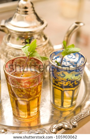 Moroccan Tea Cups - stock photo