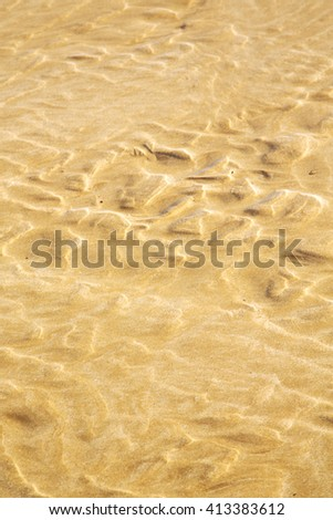morocco   in africa brown coastline wet sand beach near atlantic ocean - stock photo