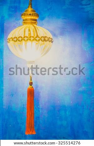 Morocco lantern decoration - vintage filter effect - stock photo