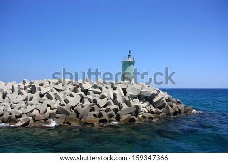 Morocco lighthouse - stock photo