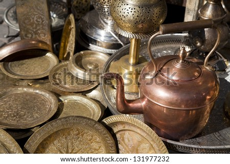 Morocco teapot - stock photo