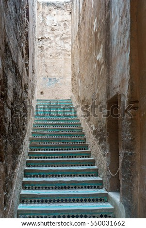 Morocco traditional stairs