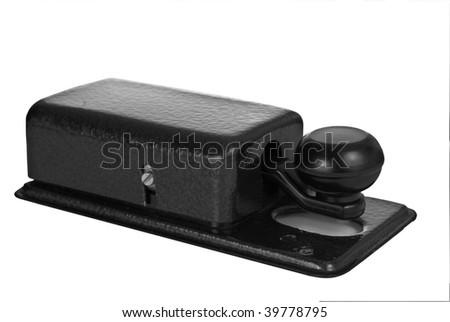morse key isolated on white background - stock photo
