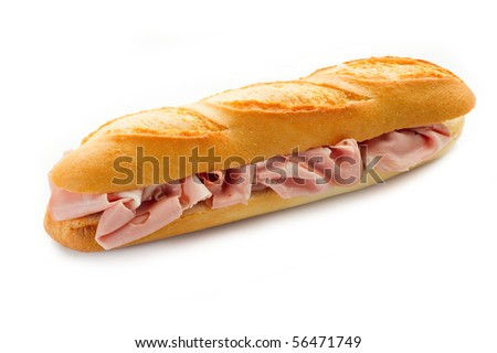 mortadella sandwich - stock photo